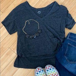 J.Crew V-Neck Dropped Back T-Shirt
